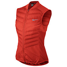 Buy Nike Aeroloft 800 Running Gilet, Light Crimson Online at johnlewis.com