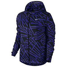 Buy Nike Palm Impossibly Light Running Jacket, Plum/Black Online at johnlewis.com