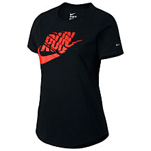 Buy Nike Run P Orgametric Swoosh Running Top, Black Online at johnlewis.com
