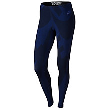 Buy Nike Leg-A-See Camo Print Running Tights, Deep Royal Blue/Obsidian Online at johnlewis.com