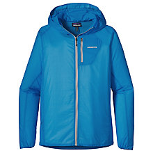 Buy Patagonia Houdini Zip-Up Hooded Jacket, Blue Online at johnlewis.com