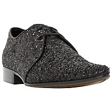 Buy Dune Ricky M Glitter Derby Shoes, Black Online at johnlewis.com