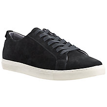 Buy Kin by John Lewis Joe Suede Lace-Up Trainers, Black Online at johnlewis.com