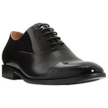 Buy Dune Roulette Patent Contrast Oxford Shoes, Black Online at johnlewis.com