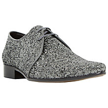 Buy Dune Ricky M Glitter Derby Shoes, Silver Online at johnlewis.com