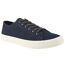 Buy John Lewis Washed Canvas Lace-Up Trainers Online at johnlewis.com