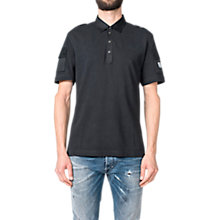 Buy Diesel T-Poll-Mix Polo Shirt, Black Online at johnlewis.com