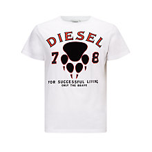 Buy Diesel T-Diego T-Shirt, White Online at johnlewis.com