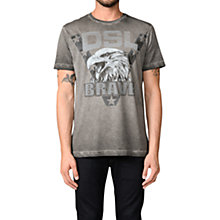 Buy Diesel T-Joe-BH T-Shirt, Grey Online at johnlewis.com