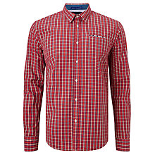 Buy Scotch & Soda Fixed Pocket Square Check Poplin Shirt, Red Online at johnlewis.com