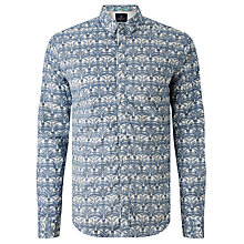 Buy Scotch & Soda Twill Palm Print Shirt Online at johnlewis.com