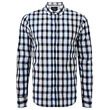 Buy Scotch & Soda Shadow Check Long Sleeve Shirt, Grey/Blue Online at johnlewis.com