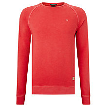Buy Scotch & Soda Dyed Basic Sweatshirt, Bright Red Online at johnlewis.com