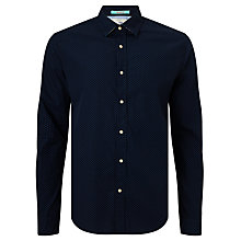 Buy Scotch & Soda Printed Contrast Poplin Shirt, Navy Online at johnlewis.com