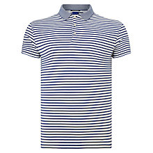 Buy Scotch & Soda Fancy Collar Polo Top, White/Navy Online at johnlewis.com