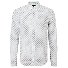 Buy Scotch & Soda Long Sleeve Oxford Shirt, White Online at johnlewis.com