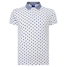 Buy Scotch & Soda Polka Dot Print Polo Shirt, Cream/Blue Online at johnlewis.com