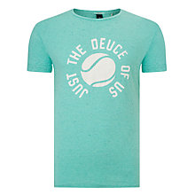 Buy Scotch & Soda Neps Jersey T-Shirt, Zanzibar Green Melange Online at johnlewis.com