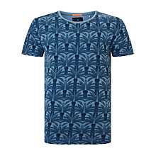Buy Scotch & Soda Palm Tree T-shirt, Blue Online at johnlewis.com