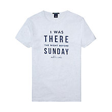Buy Scotch & Soda Sunday Graphic Short Sleeve T-Shirt, Surf White Melange Online at johnlewis.com