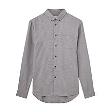 Buy Jigsaw Houndstooth Flannel Slim Fit Shirt, Black Online at johnlewis.com