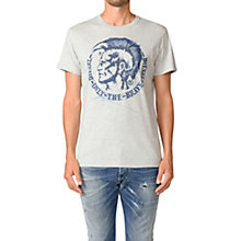 Buy Diesel T-Diego-FR T-Shirt, Grey Online at johnlewis.com