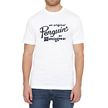 Buy Original Penguin Script Logo Print T-Shirt Online at johnlewis.com