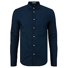 Buy Scotch & Soda Diamond Print Slim Fit Shirt, Blue Online at johnlewis.com