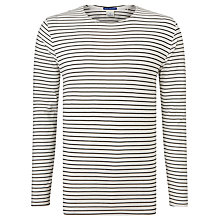 Buy Scotch & Soda Long Sleeve Stripe Boat T-Shirt, Cream/Black Online at johnlewis.com