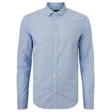 Buy Scotch & Soda Contrast Collar Slim Fit Shirt, Light Blue Online at johnlewis.com