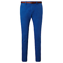 Buy Scotch & Soda Basic Garment Dyed Slim Chinos, Worker Blue Online at johnlewis.com