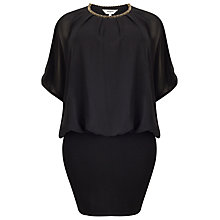 Buy Studio 8 Embellished Emily Dress, Black Online at johnlewis.com