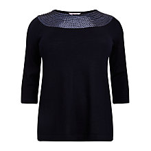 Buy Studio 8 Jennifer Sequin Swing Jumper, Blue Online at johnlewis.com