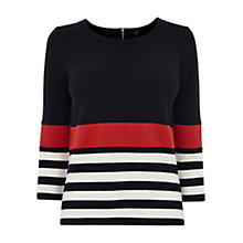Buy Karen Millen Stripe Jersey Top, Multi Online at johnlewis.com