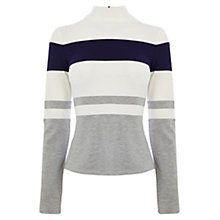 Buy Karen Millen Ponte Roma Stripe Top, Grey/Multi Online at johnlewis.com