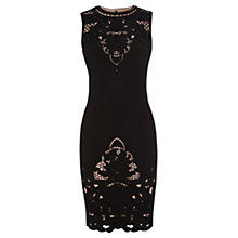 Buy Karen Millen Victorian Cutwork Dress, Black Online at johnlewis.com