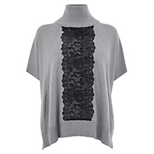 Buy Karen Millen Lace Detail Poncho, Grey Online at johnlewis.com