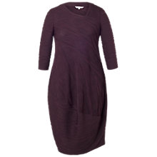 Buy Chesca Wavy Stripe Jersey Dress, Aubergine/Black Online at johnlewis.com