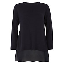Buy Hobbs Sophia Jumper, Navy Online at johnlewis.com