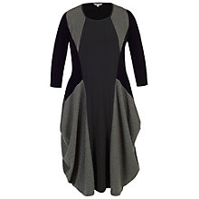 Buy Chesca Mini Wavy Line Jacquard Dress, Charcoal Online at johnlewis.com