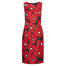 Buy Hobbs Adele Shift Dress, Poppy Red/Multi Online at johnlewis.com