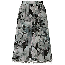 Buy Supertrash Chiffon Ravel Print Skirt, Grey Multi Online at johnlewis.com
