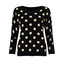 Buy Numph Dolly Spot Jumper, Caviar/Birch Online at johnlewis.com