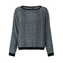 Buy Supertrash Woven Fee Print Sweatshirt, Black Online at johnlewis.com