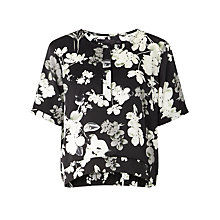 Buy Minimum Minka Blouse, Black/White Online at johnlewis.com