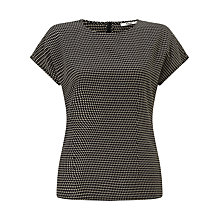 Buy BZR Dominique Printed T-Shirt, Black Online at johnlewis.com
