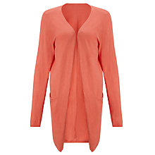 Buy Numph Bertil Longline Cardigan, Spiced Coral Online at johnlewis.com