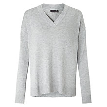 Buy Minimum Millah V-Neck Jumper, Pale Grey Melange Online at johnlewis.com
