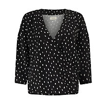 Buy Numph Talli Cross Over Printed Blouse, Caviar Online at johnlewis.com