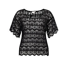 Buy Numph Laurel Lace Top, Caviar Online at johnlewis.com